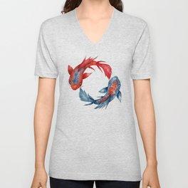 Yin Yang Koi Fish Unisex V-Neck
