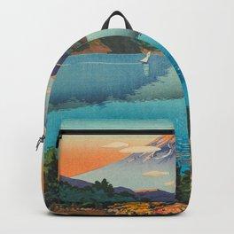 Tsuchiya Koitsu Vintage Japanese Woodblock Print Fall Autumn Mount Fuji Backpack