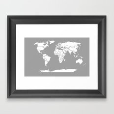 A Political Map of the World Framed Art Print