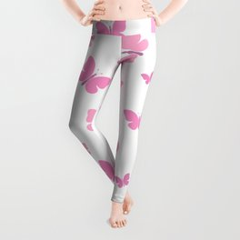 Pink Butterfly Leggings