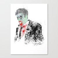 kieren walker Canvas Prints featuring Walker by Evan