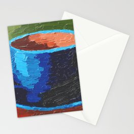 Coffee Cup Impasto Oil Paiting Stationery Cards