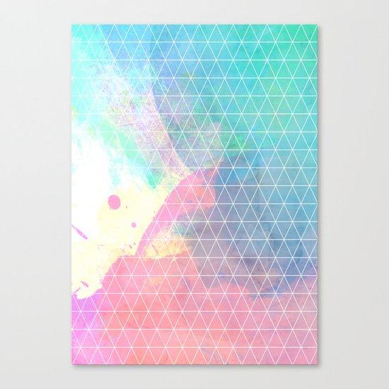 Geometric Shadows Canvas Print