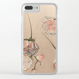 Falling Roses Clear iPhone Case
