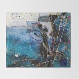 Midnight Sky, Acrylic artwork Throw Blanket