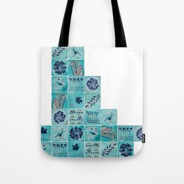 A Tile of Two Cities Tote Bag