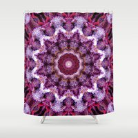 northern lights Shower Curtains featuring Northern Lights by 420Fractals