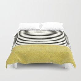 Gold x Stripes Duvet Cover