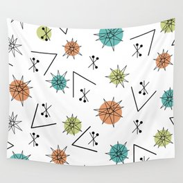 Mid Century Modern Sputnik Starburst Planets 1 Wall Tapestry