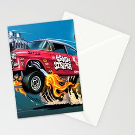 Hot Wheels Candy Striper 55 Gasser Poster Stationery Cards
