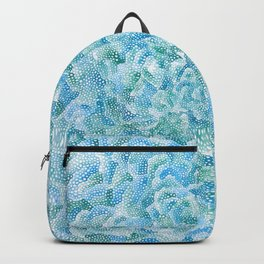 blue and green bubbles Backpack