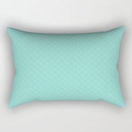 Tiffany Aqua Blue Quilted Pattern Rectangular Pillow