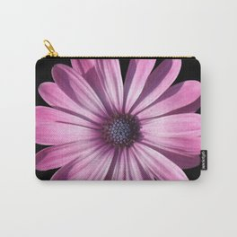 Spectacular African Daisy Isolated On Black Carry-All Pouch