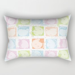 Cat Blobs Rectangular Pillow