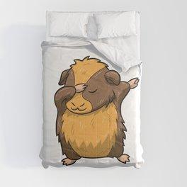 Dabbing Guinea Pig Shirt Hamster Cavy Dab Pet Gift Comforters