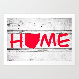 Ohio State Home Pride Wood Print Art Print