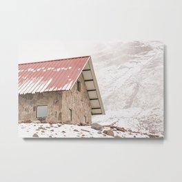 Shelter at Chimborazo Mountain in Ecuador Metal Print