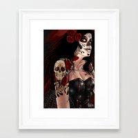 dia de los muertos Framed Art Prints featuring Dia De Los Muertos  by Kris Chisholm