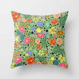 green arboretum Throw Pillow