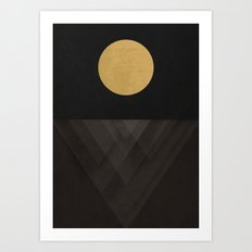 Moon Reflection on Quiet Ocean Art Print