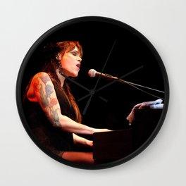 Musician Beth Hart on the Piano Wall Clock