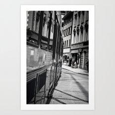 City Surfing Art Print