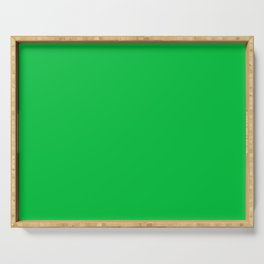 Dark Chalky Pastel Green Solid Color Serving Tray