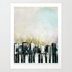 Music of The City Art Print