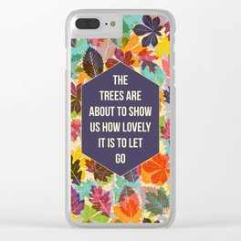 Autumn Trees Clear iPhone Case