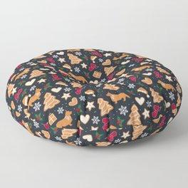 Gingerbread pups | Corgi Floor Pillow
