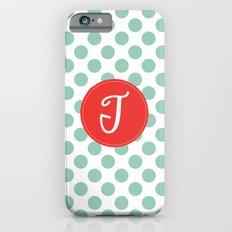 Monogram Initial T Polka Dot Slim Case iPhone 6s