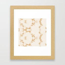Golden Marble Pattern Framed Art Print