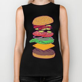Vegan Burger Anatomy (No Words) Biker Tank