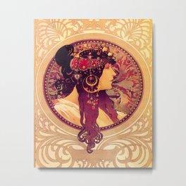 Alphonse Mucha, Art Nouveau Metal Print