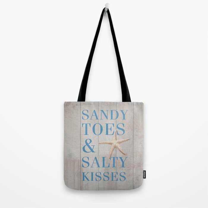 Sandy Toes and Salty Kisses Tote Bag