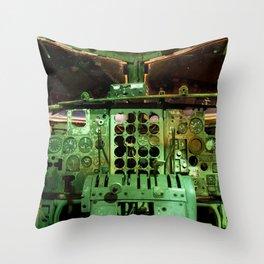 C123 COCKPIT EL AVION BAR, COSTA RICA Throw Pillow