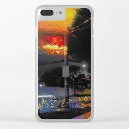 Melan Colia Clear iPhone Case