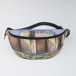 Aljafería Palace Reflective Planar Projection Mid Day Tower Fanny Pack