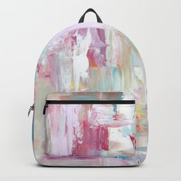 Pink Abstract Painting Backpack