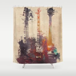 guitars 3 Shower Curtain