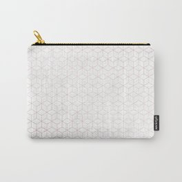 Simply Cubes in Rose Gold Sunset Carry-All Pouch