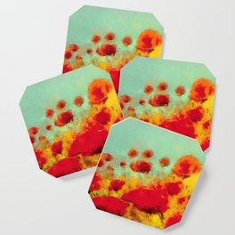 FLOWERS - Poppy time Coaster