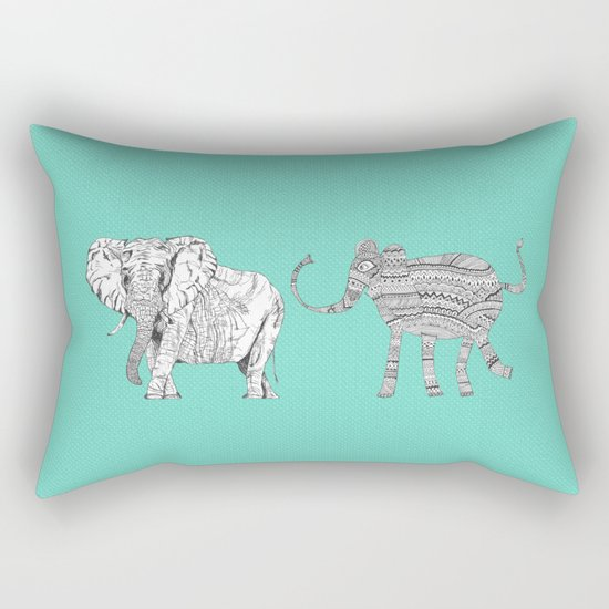 two ways to see one elephant Rectangular Pillow