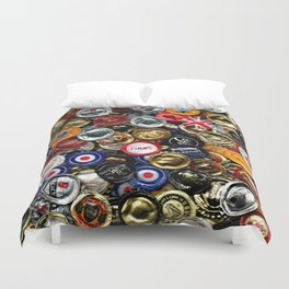 Beer Bottletops Duvet Cover