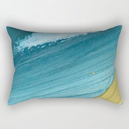 Paradise: a vibrant, minimal, abstract mixed media piece Rectangular Pillow