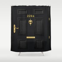 221b Shower Curtains featuring 221b Baker Street by Andrian Kembara