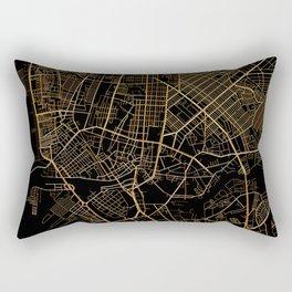 Black and gold Manila map Rectangular Pillow