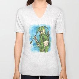 The Green Vigilante Unisex V-Neck