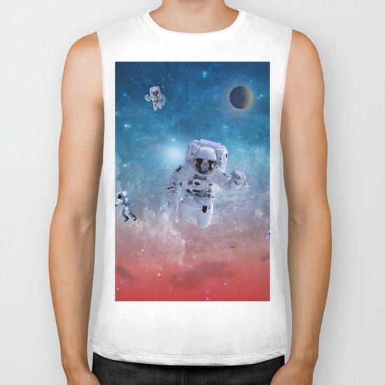 space astronaut Biker Tank