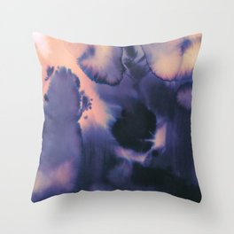 water color wave II collab Dylan Silva Throw Pillow
